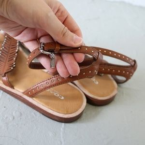0296a953c310f4 Coach Shoes - Coach Beach Feather Sandal in Brown Saddle Size 6